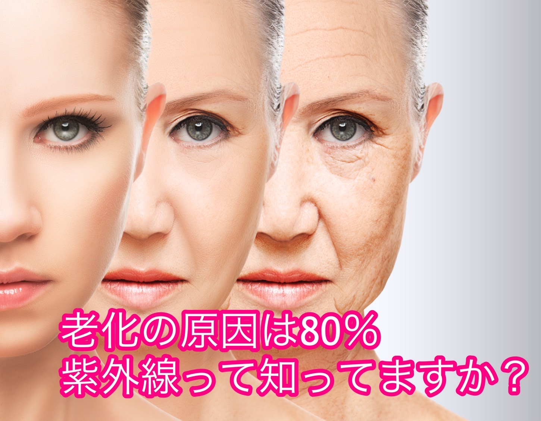 老化の原因の80%は紫外線!?